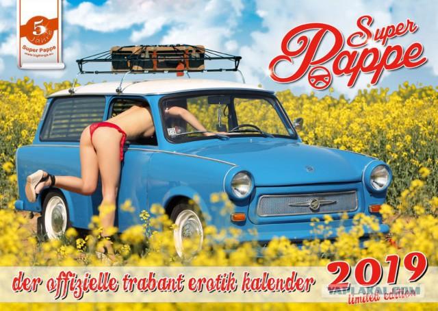 Обнаженные девушки в календаре Trabant Erotik 2019 (18+)