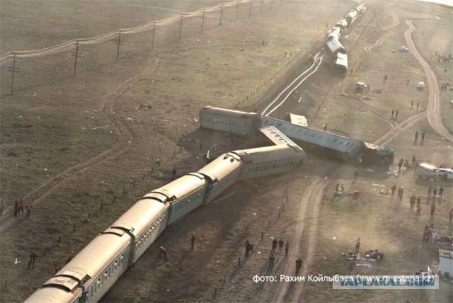 Железнодорожная авария в Казахстане