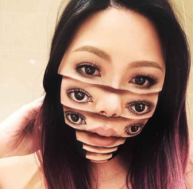 Жутковатый макияж от Mimi Choi