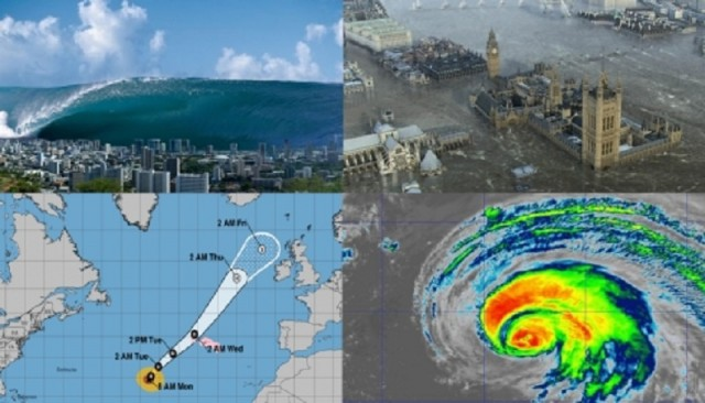 """""""К концу недели Британию смоет: высота волн от урагана Лоренцо достигнет 30 метров!"""""""