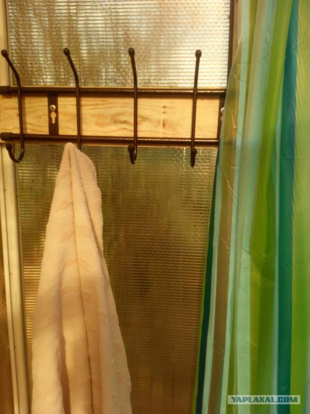 Летний душ на даче из того, что было