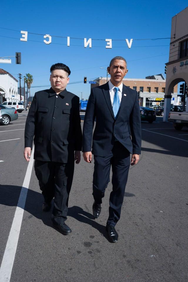 Прогулка Обамы и Ким Чен Ына