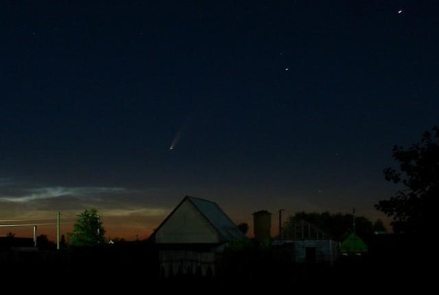 Комета C/2020 F3 (NEOWISE) вид из Сибири