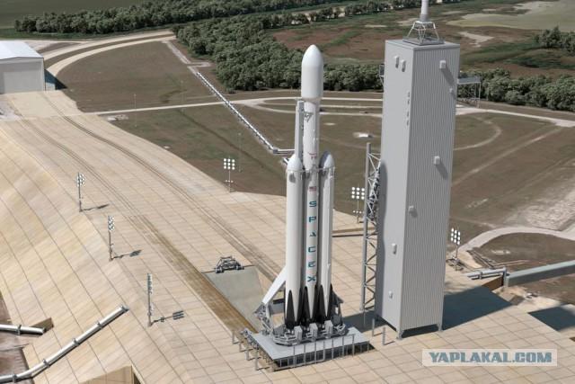 SpaceX закончила тестирование самой тяжёлой ракеты в мире