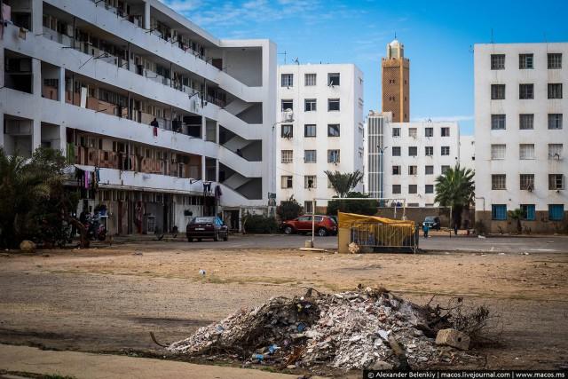 Как живут в спальных районах Марокко