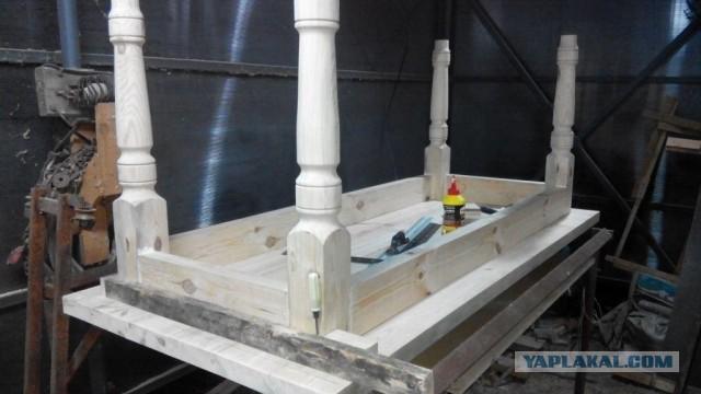 Процесс изготовления деревянного стола