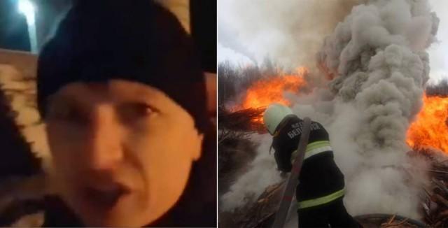«Иди гуляй, сынок». Гомельчане просят наказать блогера за хамство в отношении спасателя на пожаре.