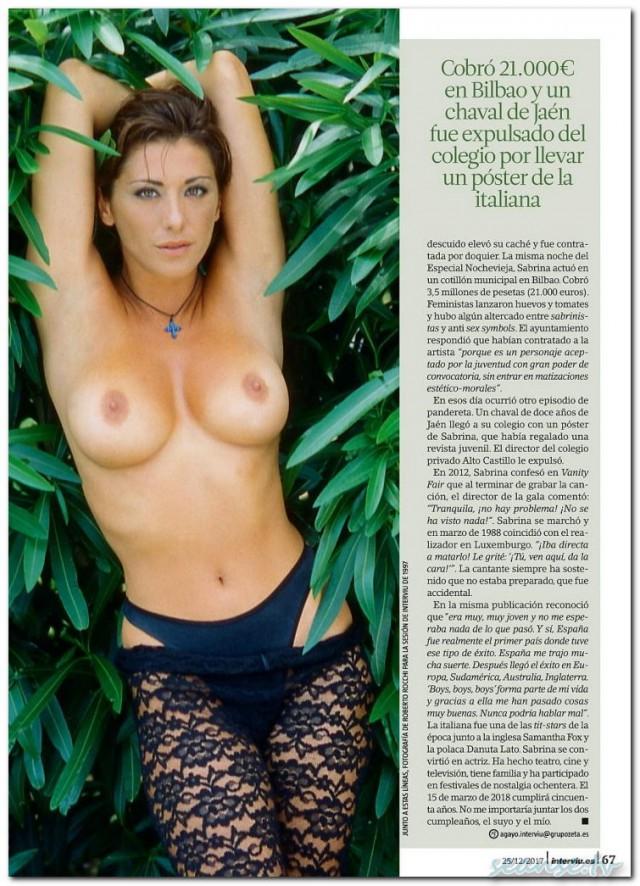 Sabrina Salerno toples.