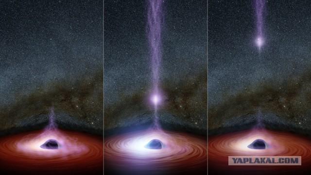 Загадочный объект вырывается из черной дыры