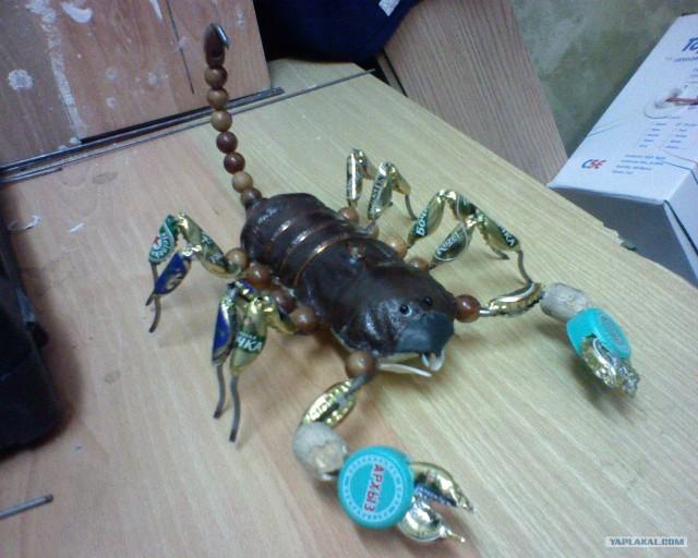 Как сделать скорпиона из проволоки