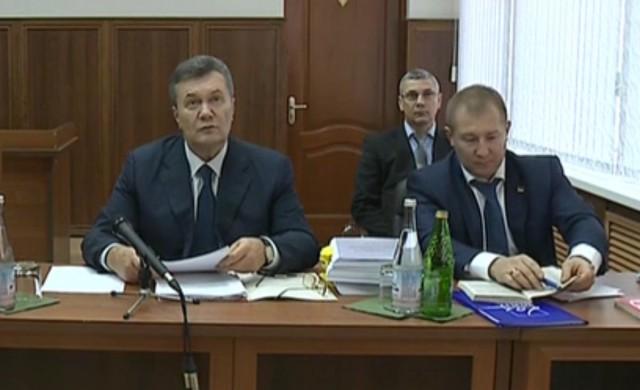 Видеодопрос Януковича по делу о беспорядках в Киеве в феврале 2014
