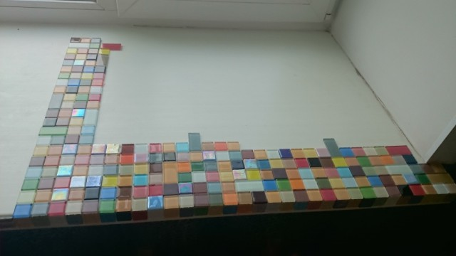 Подоконник из мозайки