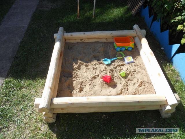 Как сделать песочницу из березы.