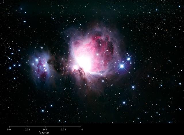 Трехмерная визуализация живописной туманности Ориона