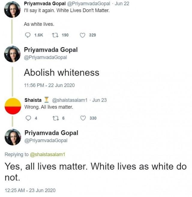 """Кембридж повысил до Профессора преподавательницу которая написала, что """"жизни белых неважны"""""""