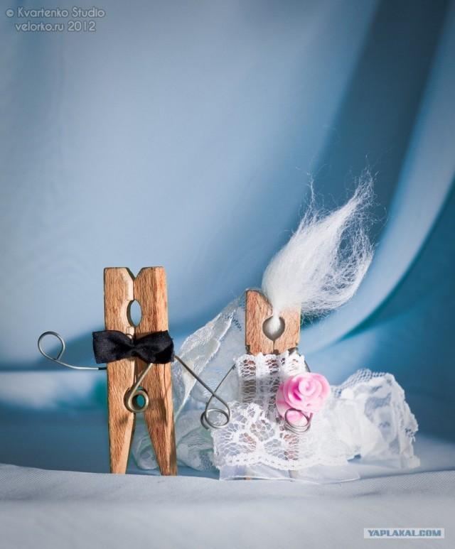 Жизнь прищепки. Свадьба (11 фото)
