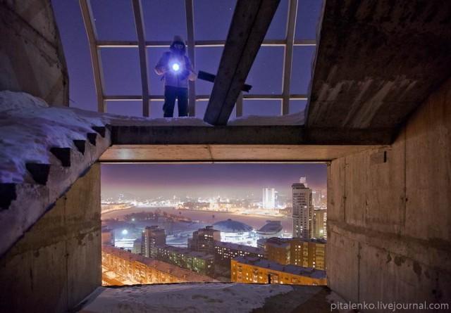 Ночной Екатеринбург с высоты 25-го этажа