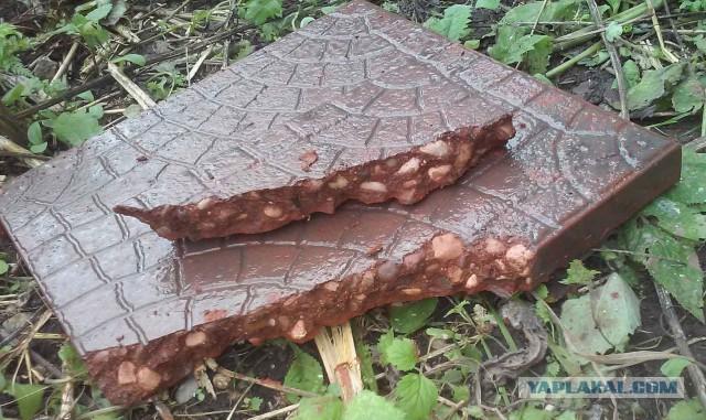 Тротуарная плитка методом вибролитья