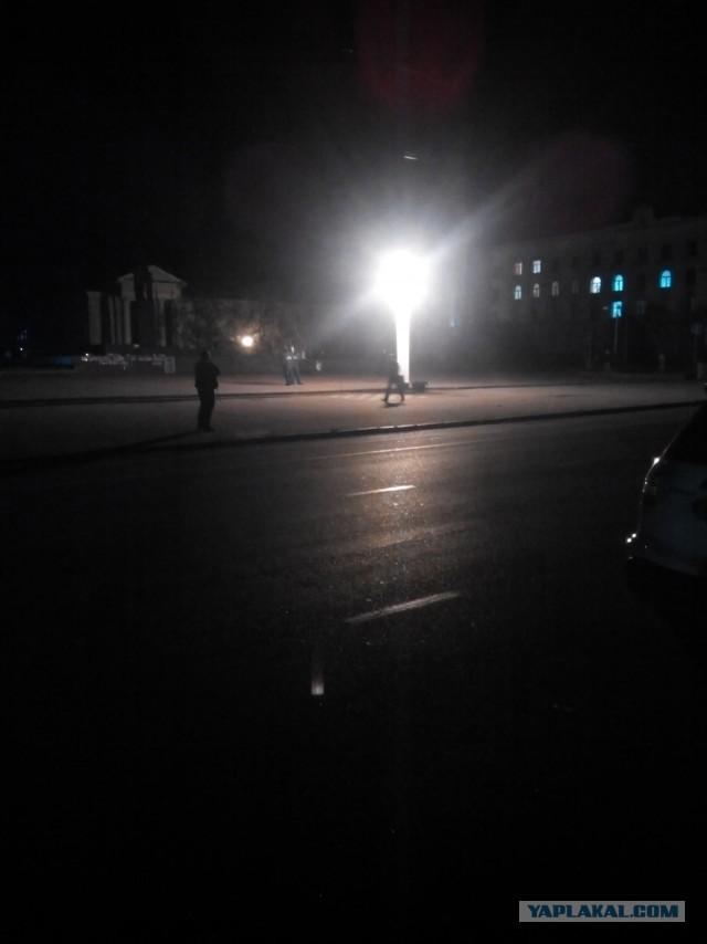 Освещение ночных улиц Симферополя