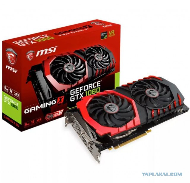 Продам MSI Geforce 1060 3Gb новая