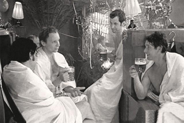 """Как снимали сцену в бане """"Иронии судьбы..."""""""