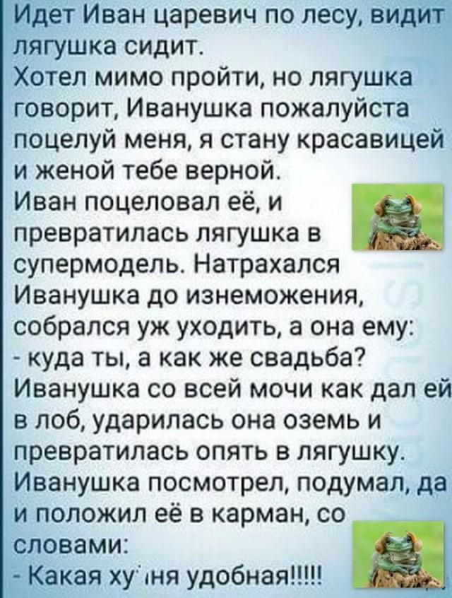Анекдот Лягушка