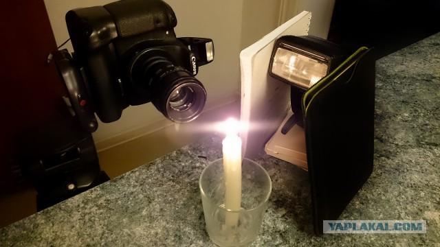 Испарение парафина погасшей свечи
