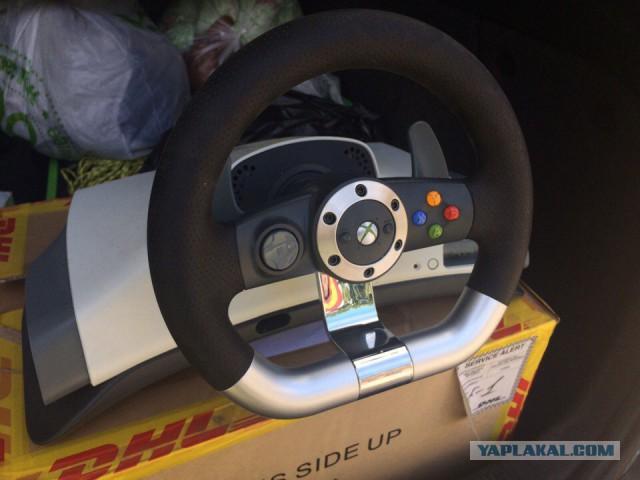 [Москва, Одинцово] Оригинальный wireless racing wheel для xbox 360