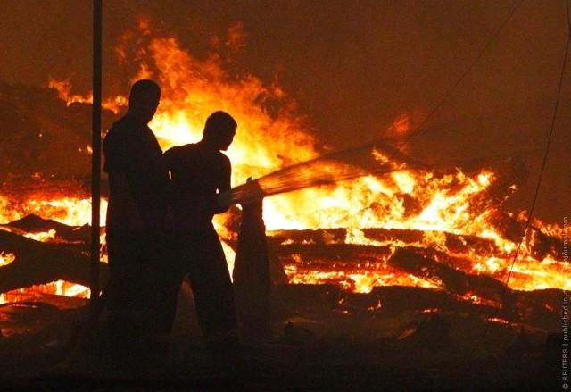 Огненная беда - как зона боевых действий