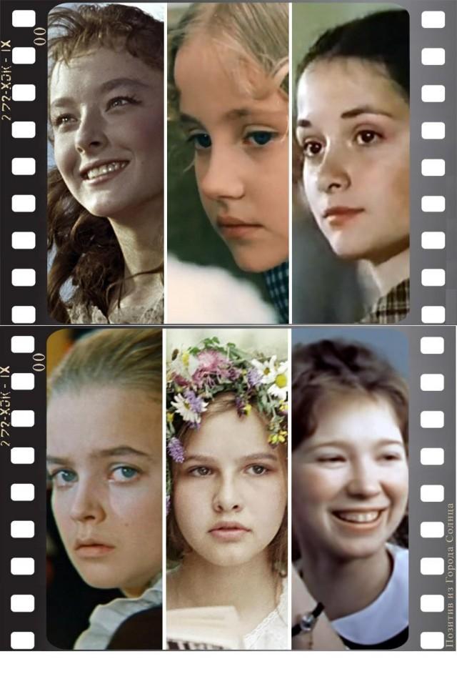 Актрисы советского кино, которые стали сниматься в кино ещё детьми