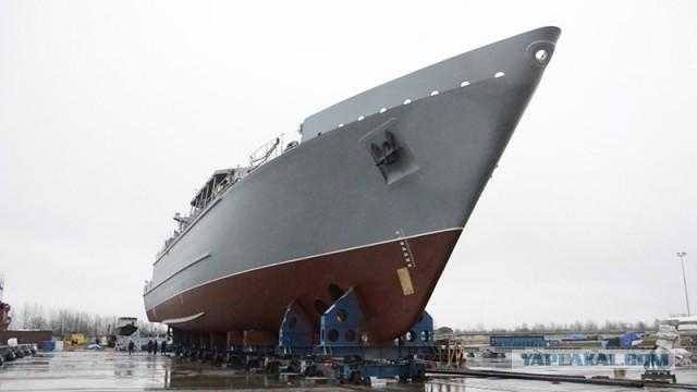 В Петербурге вывели из цеха новейший корабль ПМО «Яков Баляев»
