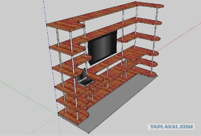 Стеллаж для комнаты по своему проекту.