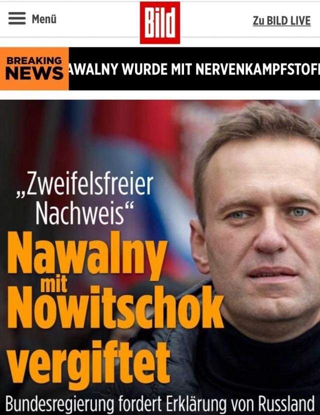 Правительство Германии: Навальный был отравлен ядом, схожим с «Новичком»
