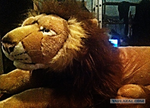 Мягкая игрушка реалистик-Лев размер 1 метр