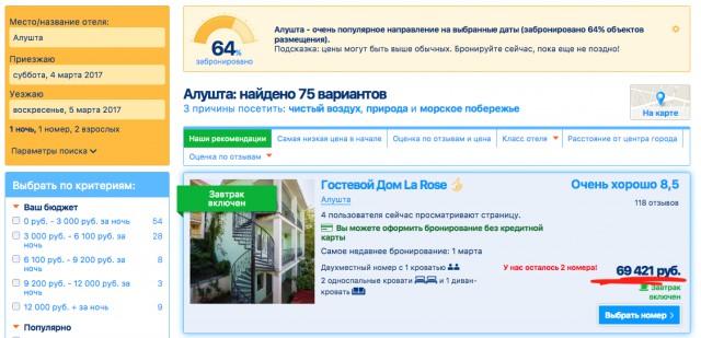Как крымские отельеры сходят с ума или сколько стоит номер отеля в Алуште