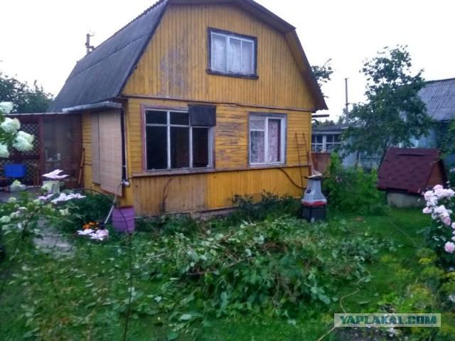 Перестройка старого дачного домика. Вторая половина лета 2017.