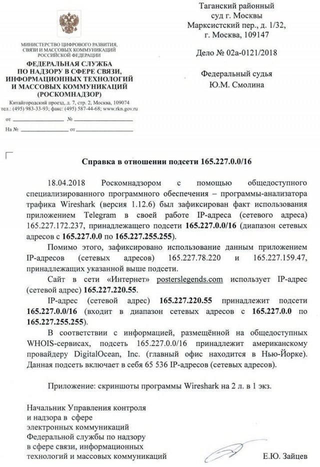 Роскомнадзор признался в блокировке 65 тысяч IP-адресов ради блокировки трёх IP-адресов Telegram