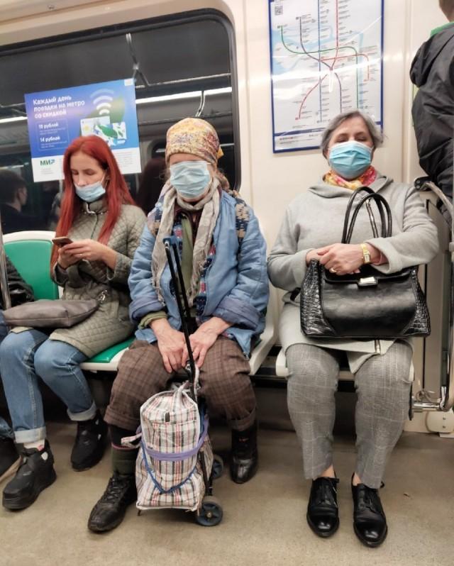 Модники и модницы из подземелий нашего метро. Масочный выпуск
