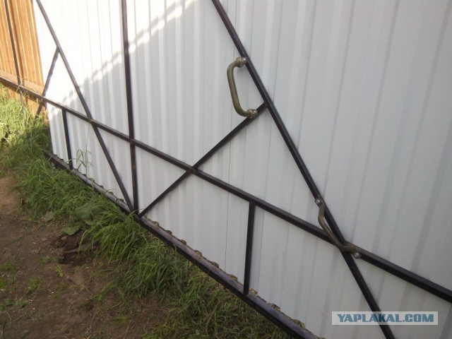 Откатные ворота без опорного столба: откатно-распашные