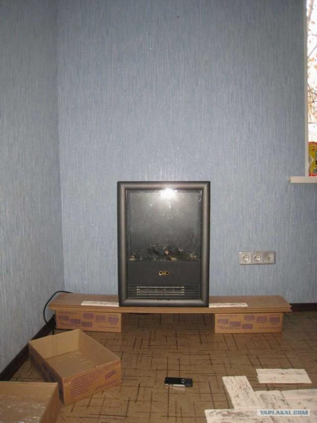 Камин в обычной квартире