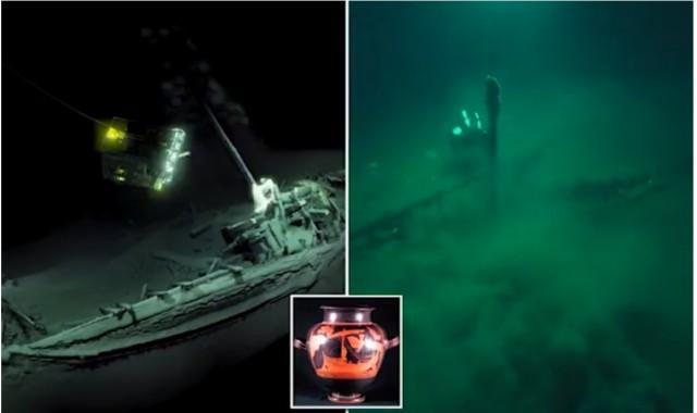Невероятная находка - древнегреческий корабль на дне Черного моря в удивительной сохранности!