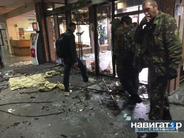 В Киеве майданщики штурмуют гостиницу «Турист»