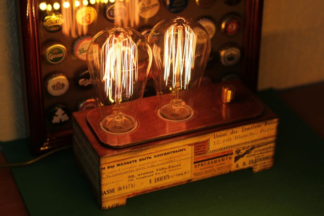 Ночник с двумя лампами эдисона
