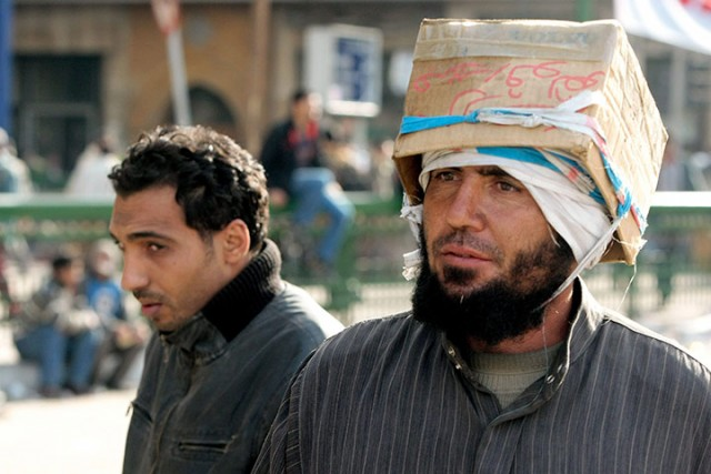 Шлемы погромщиков в Египте