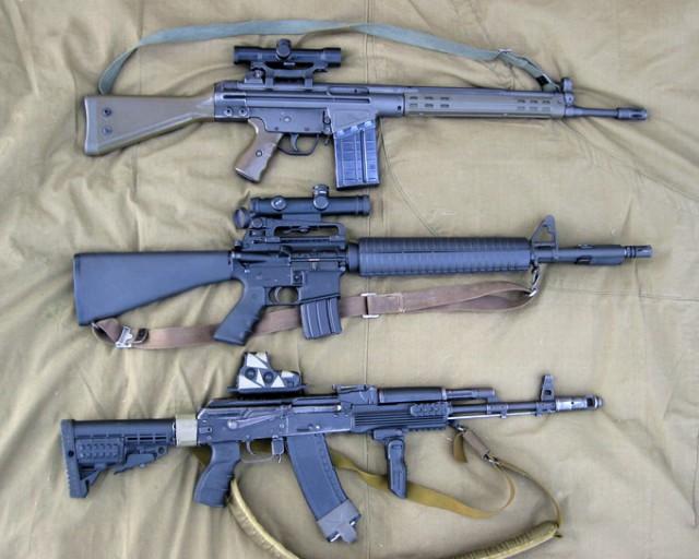 Оружие холодной войны: АК-74 против М-16 и G-3