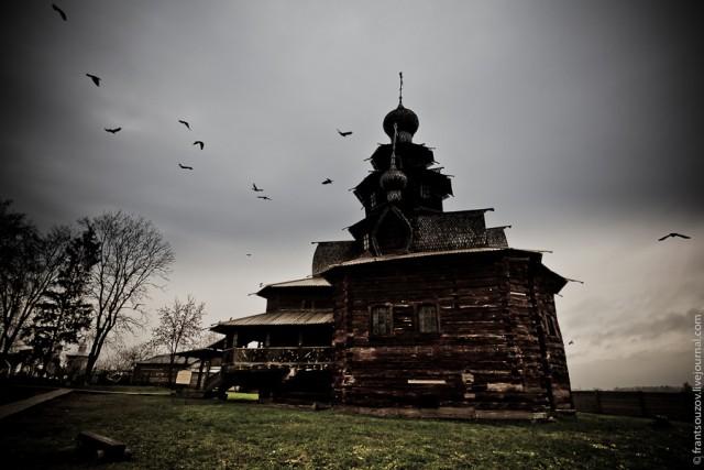 Суздаль. Музей деревянного зодчества.