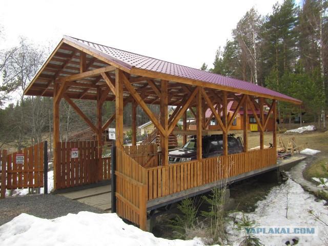 Мост стапель для катамарана