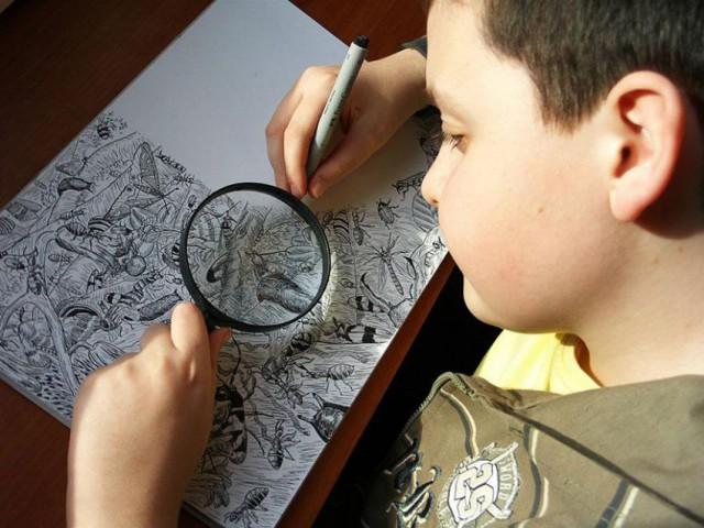 11-летний вундеркинд создает потрясающе рисунки.