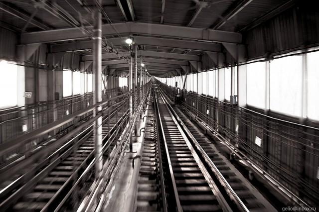 Новосибирское метро - взгляд из кабины машиниста