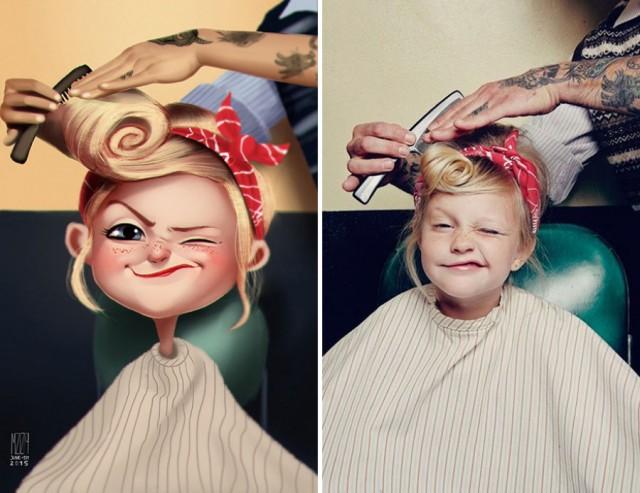 Художник превращает фотографии случайных людей